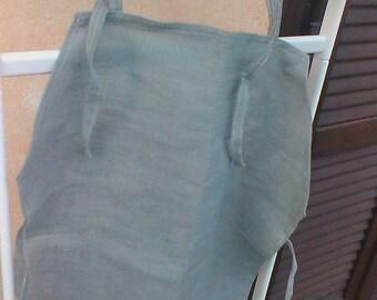 Little grey linen apron