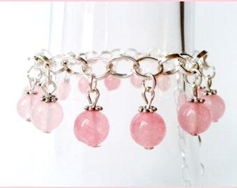True pink jade bracelet adjustable bracelet