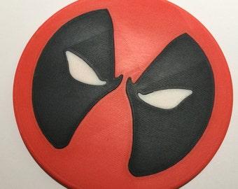 3D Printed Deadpool Coaster / Plaque