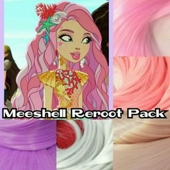 Ever After High Meeshell Mermaid Custom Doll Nylon Hair Re-root Pack for Customizing your Doll INTL SHIP