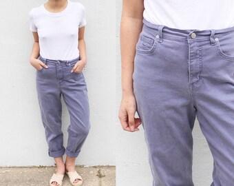 Vintage Purple Mom Jeans Plum Boyfriend Jeans Gloria Vanderbilt