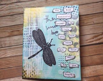 Dragonfly Card//Handmade Card