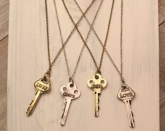 "Love key nccklace 21"""