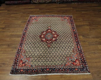 Magnificent Vintage Allover Tribal Koliaie Hamadan Persian Oriental Area Rug 5X7