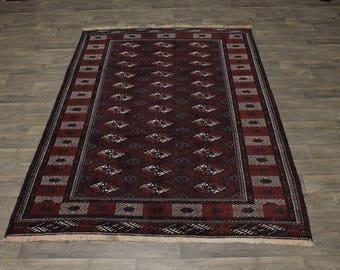 7X10 Great Shape Rare Handmade Turkoman Persian Rug Oriental Area Carpet 6ʹ6X9ʹ9