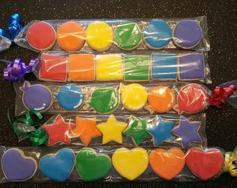 Rainbow Mini Sugar Cookie Sleeves