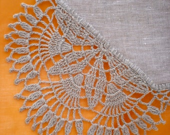 Country Chic  Doily Linen Home Decor Table Doily Gift for Woman Crocheted Doily Housewarming Gift Lace Doily Farmhouse Linens Rustic Decor