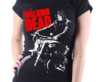 AMC's The Walking Dead: Daryl Dixon TV Show Women's Black T Shirt