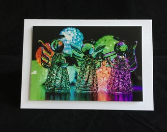 Christmas card ' three musical cherubs '