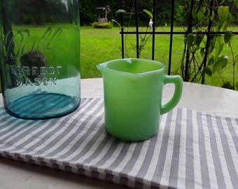Jadite Jadeite Green Glass 3 Pour Spout 1 Cup Measuring Cup Embossed New