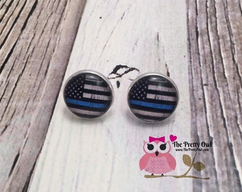 14mm Blue line or Red line customized flag studs