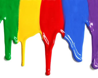 Coloured PVA Glue Adhesive Paint Multiple Colours Available Great for cosmetics etc