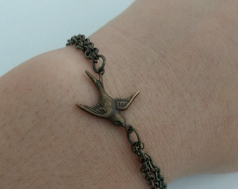 Bronze Swallow Bracelet