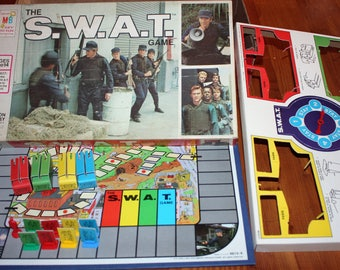 Vintage S.W.A.T. TV Show Board Game 1976