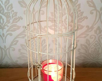 Birdcage Shabby Chic Candle Holder Lantern Hurricane Home Decor