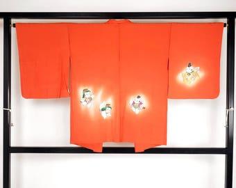 "M40604 Japanese Orange ""Eba-Haori"" Jacket Vintage"