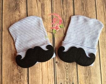 Mustache hospital hat, Newborn hospital hat, baby boy hospital hat, newborn boy beanie, newborn boy cap