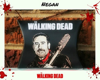 Walking Dead Printable Negan and Lucille Treat Box, Party Favor-Instant Download, Walking Dead Party, Walking Dead Printables, Horror, Blood