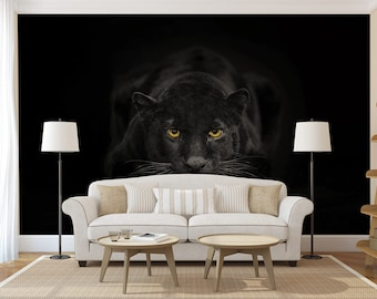 Jaguar decal etsy for Black panther mural