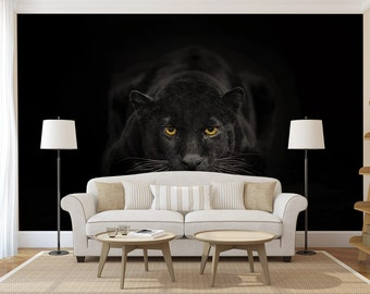 Black Panther Mural Of Jaguar Decal Etsy