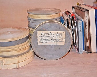 Lot of 17 used reel to reel tapes from USSR