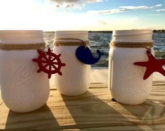 Ocean life mason jars