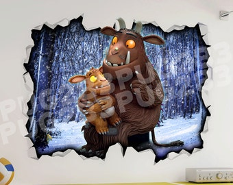 Grufallo 3D Wall Vinyl Sticker Poster - Bed Game Room Mural