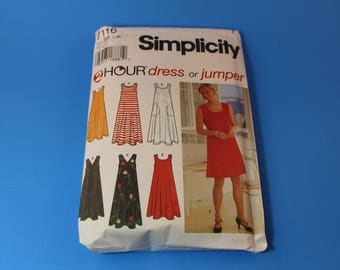 Vintage Simplicity Pattern 7116 Uncut Dress Jumper 1996