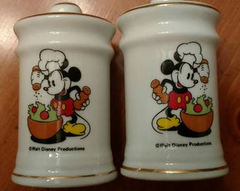 Chef Mickey Vintage Salt & Pepper Shakers Mint Condition
