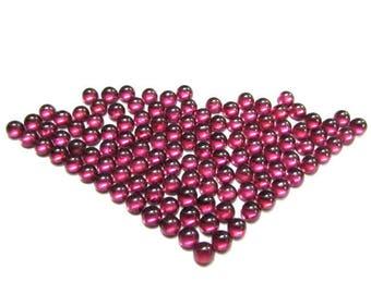 50 pcs Lot 4mm RHODOLITE GARNET Round Cabochon Smooth polished gemstone