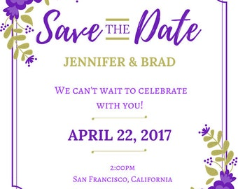 Save the Date: Wedding, Bridal Shower, Baby Shower