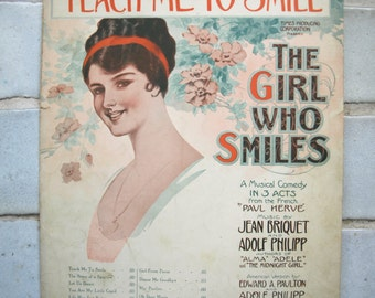 Teach me to Smile from The Girl who Smiles – 1915 copyright
