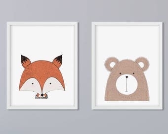 2 set animals print of your choice - without frame