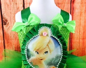 Tinkerbell Costume Tutu Dress Girl Toddler Kids all Occasions 1st 2nd 3rd 4th 5th Birthday Party Outfit