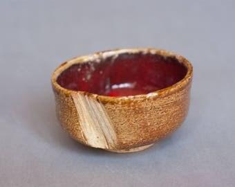 Wheelthrown teabowl. Chawan.
