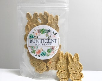 Carrot & Banana Bunny Cookies Treats - Tasty Homemade treats/snack for Pet Rabbits, Guinea Pigs and Mouse/Rats - Tasty Pet food