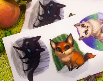Fox Trio vinyl Stickers #19