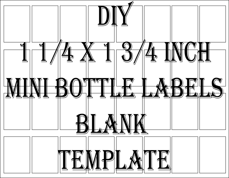 mini liquor bottle label template printable 4 files 24 diy 1. Black Bedroom Furniture Sets. Home Design Ideas