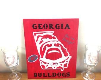 Georgia Bulldogs Wood sign, Georgia Bulldogs decor, UGA, UGA sign, wood sign, home decor,