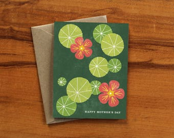 Nasturtium Mother's Day Card