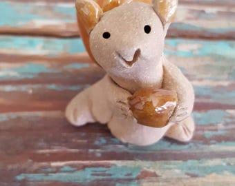 Little Guys Ceramic Squirrel Figurine