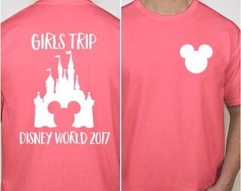 Disney World family shirts, girls trip disney trips, girls trip, mickey shirt, disney vacation shirts, mickey castle family shirts, disney
