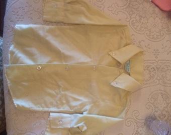 Vintage 1950s little boys dress button up shirt yellow original