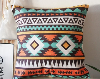 Boho Pillow Cover, Bohemia Pattern Pillow Cover, Pillow Covers, Throw Pillow, Boho Cushion Cover, Decorative Pillow Cover