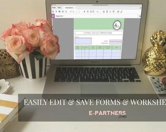 Fillable Forms - Worksheets - Editable Document - PDF - Microsoft Word - Custom Design