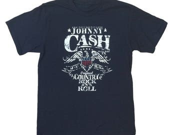 A Tribute To Johhny Cash Mens Black T Shirt