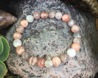 Moonstone Pineapple Bracelet