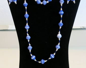Azura - recycle paper jewelry set