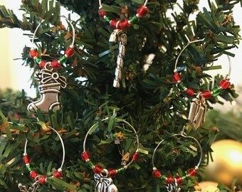The Christmas Collection Wine Charms