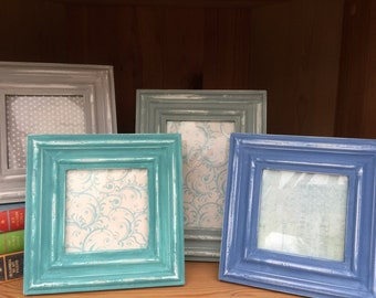 Square, Rectangle painted picture frames, shabby chic, country